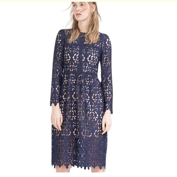 5bf7eb28 Zara Dresses | Long Sleeve Special Occasion Lace Dress | Poshmark